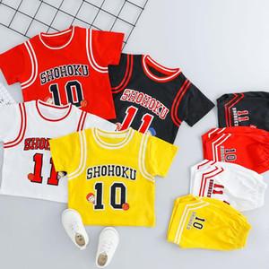 Neonati Pallacanestro Sportswear Ragazzi e ragazze dei nuovi bambini di estate coreana a maniche corte Suit Pants Sport Bambini Sport Set