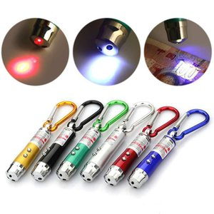 3 in 1 Mini LED UV Torch With Keychain For Outdoor Aluminium Alloy Portable 1Pc