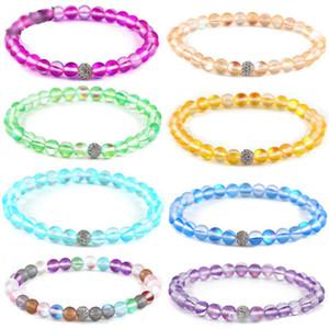Regalo di giorno multi colore Spectrolite borda il braccialetto monili d'avanguardia di rame zicron Bead Charm braccialetto fortunato per le donne ragazze di San Valentino