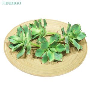 INDIGO- Green Aloe Succulent Plant Plastic Flower Table Decoration Green Plant Background