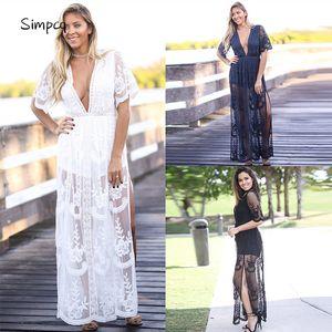 V-neck Solid Short Ankle-length Empire Regular Special Offer Rushed Vestidos De Fiesta Maxi Dress Robe Charm Women Lace