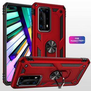 Военный противоударный телефон чехол для Huawei P40 Pro P40 Lite E 5G Magnetic Metal Ring Back Caver для Huawei P30 Pro Lite Новая 5T P Смарт 2020