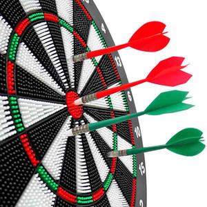 16-дюймовый 100% Safe Dart Board Самое лучшее качество для матча Play с набором наконечника DART DART Accesoires Professional Darts Set Gift T200717