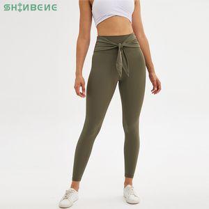 SHINBENE WINSOME Naked-Feel Fitness Gym Leggings Pantalons de yoga femmes taille haute Squatproof Sport Athlétique leggings Collants entraînement