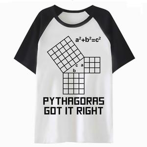 Math t shirt streetwear men hop tee male top clothing tshirt hip harajuku funny for t-shirt PF4474