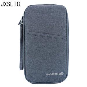 Держатель JXSLTC Travel Mark Проездной документ Passport Ticket ID Card Organizer Wallet клерк кредитной карты сумка Бесплатная доставка Y200714