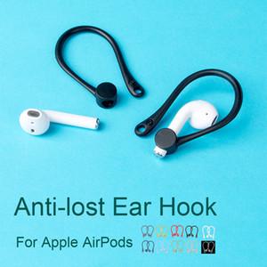 Venta al por mayor del oído de silicona para Apple Ganchos AirPods Accesorios Caso 1 2 auriculares inalámbricos protector Codos Deportes anti-pérdida de soporte para la oreja