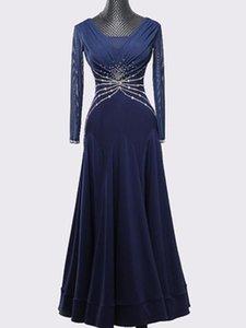 Современный танец юбка, новый бальный танец платье производительности, национальный стандарт танец, вальс практика костюм, конкуренция женщина