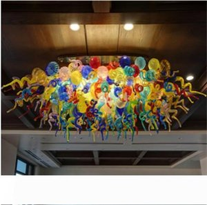 New Arrival Mouth Blown Glass Chandelier Lightings Energy Saving Hand Blown Chandelier Murano Glass Designs for Hotel Decor