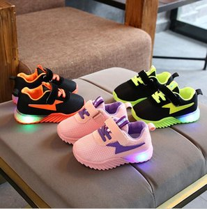 2020 Best selling Autumn Baby light shoes boys and girls double mesh breathable children's soft soled sports walking shoes