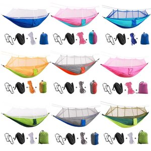 Dual Layer Waterproof Anti UV Tourist Tents Outdoor Backyard Swing Chair Bed Kit Camping Hunting Hammock with Mosquito Net