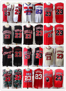 Mens College 23 Michael jd Retro Green Black Red White Jersey Chicago