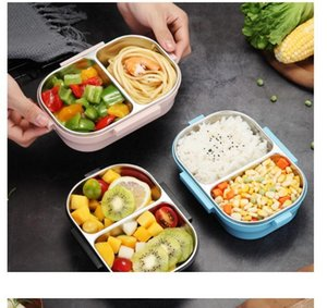 Good Quality Japanese Portable Lunch Box For Kids School 304 Stainless Steel Bento Box Kitchen Leak-proof Food Container Food Box fast ship
