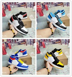 2020 Fashion Men Women Casual Sports Shoes 1 OG Low Cut Leather Sneakers Outdoor Dunk Shoes Unisex Zapatos Skateboard Forcing Shoes 36-44