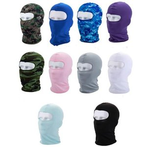 Adulti di guida Mask Sport secchezza rapido protezione solare maschera Pure Color Camouflage adulti di guida Maschera Ear Muffs secchezza rapido Muffs 10 Stile AHC50