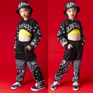 Filles coréenne Danse Jazz Costume Set Enfants Hip Hop Vêtements Dancewear enfants Rue'S étape Catwalk Vêtements Performance DL6305