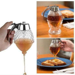 Free Shipping Clear Honey Syrup Dispenser Acrylic Kitchen Holder Pot Container Cooking Tool Dessert Tool