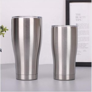 Stainless Steel Tumbler With Lid 40oz 30oz 20oz 12oz 10oz Curving Insulated Vacuum Mug Double Wall Beer Coffee Cup Large Capacity LJJP280