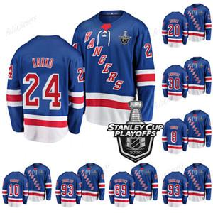 24 Kaapo Kakko New York Rangers 2020 Stanley Cup Playoffs Jerseys Artemi Panarin Chris Kreide Henrik Lundqvist Mika Zibanejad Ryan Strome