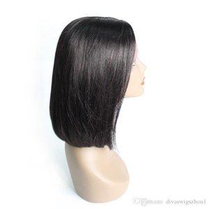 Wig Full Short 360 Lace Frontal Wigs 180% Density Straight 360 Human Hair Wigs for Black Women Glueless Bob Brazilian Hair Wigs