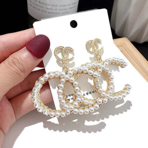 Gucci Designer Ohrringe cc Band Ohrringe Art und Weise der Frauen Bolzen aretes Ohrringe Goldmann Diamant Quaste gg 925 Sterling Silber baumeln lassen Q1