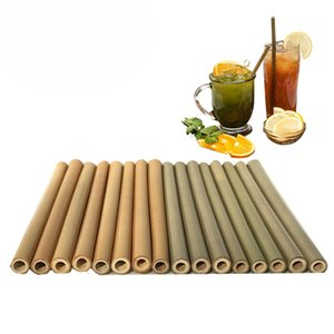 Bamboo Straws Reusable Straw Brush Reusable Drinking Straws Cocktail Wedding Decoration Bar Accessories free shipping DHL