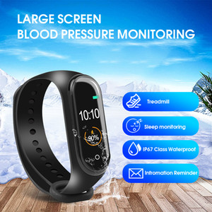 M4 Smart Bracelet Color IPS Screen Smart Band Sport Fitness Pedometer Blood Pressure Wristband Walk Step Counter Men Women Watch