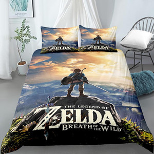 QUARTO 3D Digital Design Printing Bedding Set Duvet Cover fronha Bedclothes Dropshipping Boy Gife The Legend of Zelda NO2