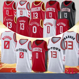 NCAA Houston Rockets 13 James Harden 0 Russell Westbrook College Maglie da basket 34 Olajuwon Basketball 2020 Nuovi uomini maglie ricamate
