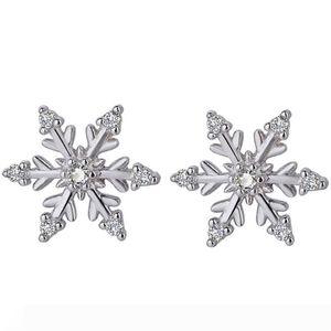 New Fashion Crystal Earring New Earring Cute Snowflake Earrings For Women Jewelry Christmas Gift