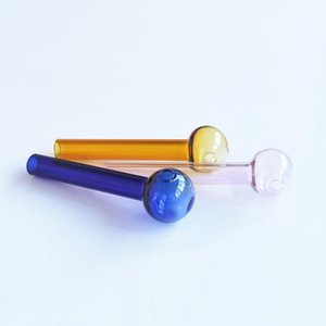 Wholesale Colorful Pyrex Glass Oil Burner Pipe Glass Tube Smoking Pipes Tobcco Herb Glass Water Bongs SYJ002