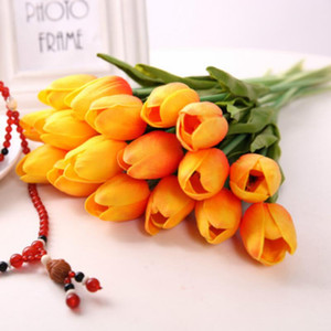 Latex Tulips Artificial PU Flower bouquet Real touch flowers For Home decoration Wedding Decorative Flowers 12 Colors Option