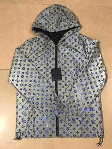 20ss HOT Homens Mulheres Projeto do revestimento do revestimento de luxo camisola com capuz manga comprida Autumn Sports Zipper Marca Windbreaker Mens Roupa Plus Size H