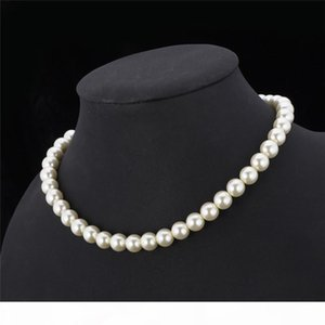 High Quality Synthetic Pearl Necklace for Women 2015 New Trendy Resizable Luxury White Black Beaded Necklace