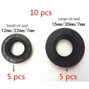10 PC cigüeñal sello de aceite para el chino 1E40F-5 40F-5 40-5 CG430 CG520 motor del cepillo recortadora cortador