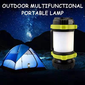 LED 휴대용 캠핑 랜턴 USB 충전식 방수 전원 은행 휴대용 램프 디 밍이 스포트 라이트 서치