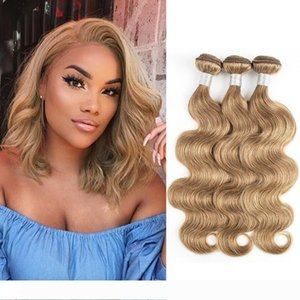 #8 Ash Blonde Body Wave Hair Weave Bundles 3 4 Pieces 16-24 inch Indian Peruvian Remy Human Hair Extensions