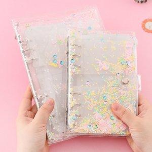 Flash bead liquid sand paper storage manual Tape A6 loose-leaf creative adhesive paper adhesive tape hand book storage book A5 manual