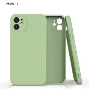Sıvı Silikon Kılıf iphone 11 Pro Max Mat Arka Kapak OPP Paketi ile Yumuşak Moda Kılıfları