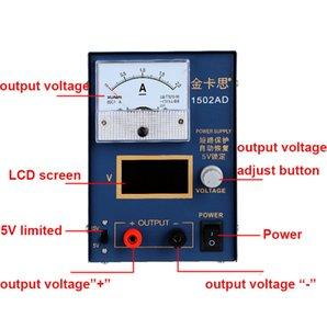 Kaisi DC fonte de alimentação regulador de tensão estabilizador 220V amperímetro 15V2A ajustável ferramentas de reparo do telefone PC Switching Power Supply