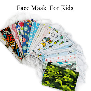 Child Kids Disposable face masks Cartoon Boys Girls Mouth Mask Cover Anti Pollution Breathable printed Face Masks for children