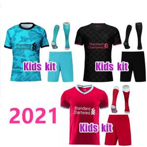 Liverpool Kinderfußballtrikot 2020 2021 Mohamed M. Salah FIRMINO Fußballtrikots 20 21 VIRGIL MANE KEITA Kids Kits Set