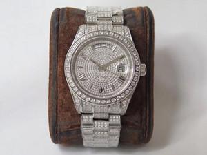 عالية الجودة رجل ووتش 904L الماس ووتش reloj de lujo 2836 حركة الساعات أسبوع التقويم مزدوج الوقت التلقائي montre دي luxe v3