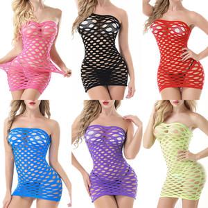 Frauen-reizvolle Wäsche Netzs Bodycon Hot Erotic-Kleid-Dame Babydoll-Mesh-Nachtwäsche weibliche sexy Unterwäsche Kostüme Nachtwäsche 050721
