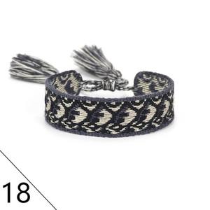 Einstellbare Paar Baumwolle gewebt Armbänder Liebhaber Armband Stickerei Quasten für Frauen Männer Seil-Armband-Armband Freundschaft Schmuck