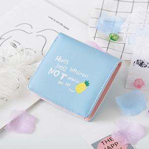 2020 Fruit cute new women's short cartoon coin purse Korean wallet fruit student Women's Small wallet tide