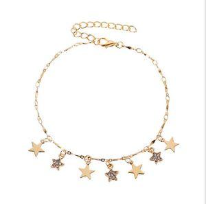 DHL Summer Star Pendant Anklet Foot Chain Yoga Beach Leg Ankle Bracelet Charm Anklets Jewelry Gift for women