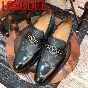 Italian Style luxurious Men Shoes Slip-On Formal Dress Leather Shoes Fashion High Quality Flats Loafers Big Size Wedding Party Shoe 38-45