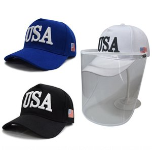 Best-selling Trump USA US flag epidemic prevention foam transparent outdoor protective mask Protective Baseball cap baseball cap hat