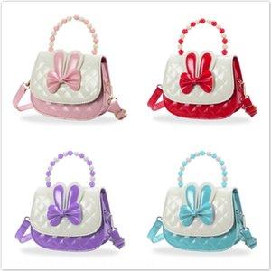 7fuDC borsa coreano carino coniglio messenger bag principessa di bowknot poco ragazza cartone animato diagonale portatile portamonete portafoglio portafoglio farfalla